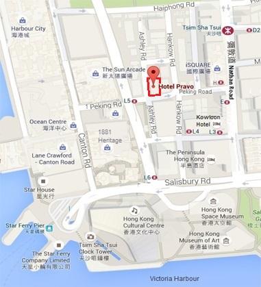 Hotel Pravo Location